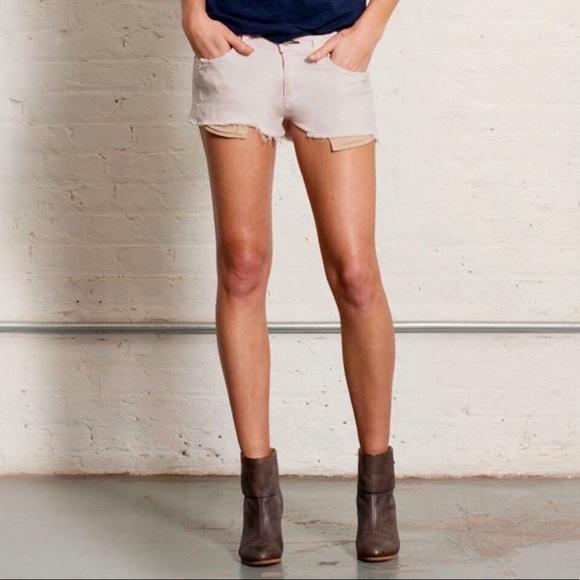 Rag & Bone   Mila Tattered Magnolia Shorts